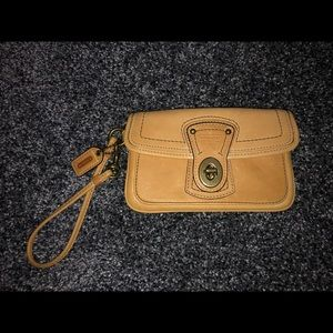 Coach Leather Locking Wristlet